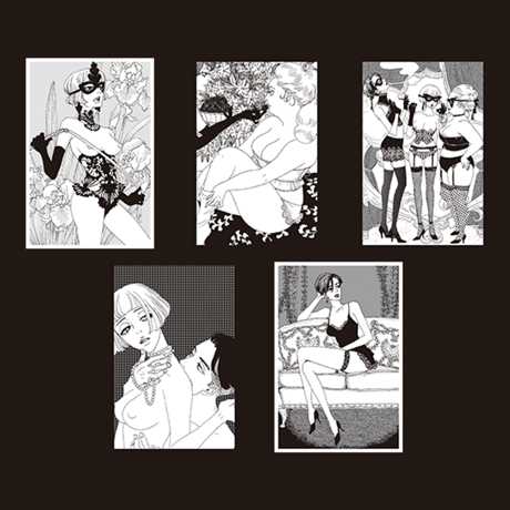 鼻下長紳士回顧録ポストカードセット(5種)